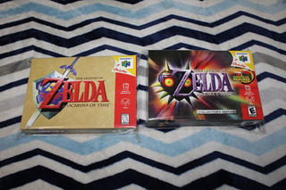 2 Cajas Custom Para Zelda Nintendo 64 (solo Son Las Cajas)