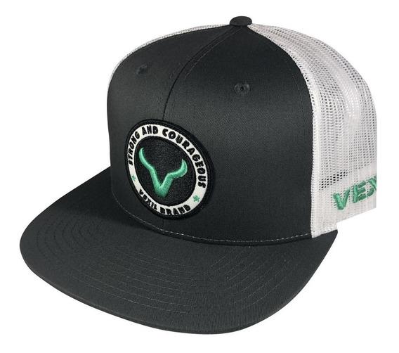 Gorra Vexil Color Gris Obscuro, Logo Turquesa