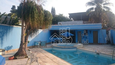 Casa Residencial À Venda, Badu, Niterói. - Ca0742