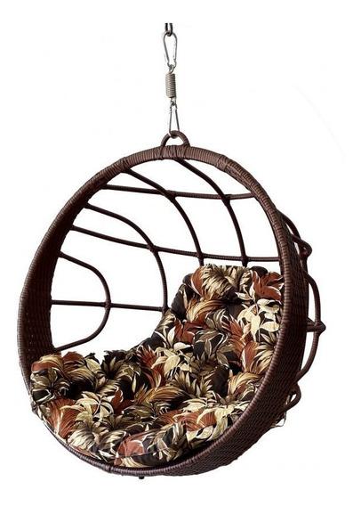 Cadeira Balanço Suspensa Fibra Sintética Alumínio Ratan Casa