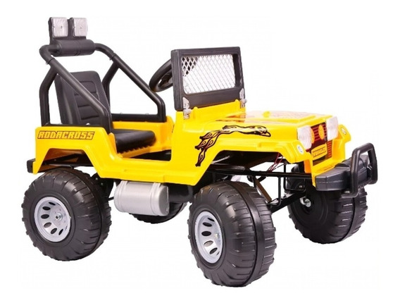 Jeep A Bateria Wrangler 12v. Doble Marcha Gigante Luces