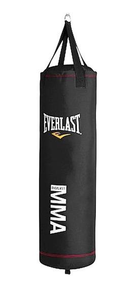 Bolsa Boxeo Everlast Profesional Negra 1mt + Cadena + Rotor