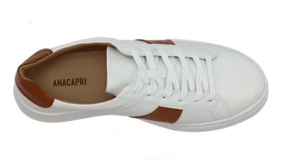 Tênis Anacapri Feminino Branco 100% Original Com N F