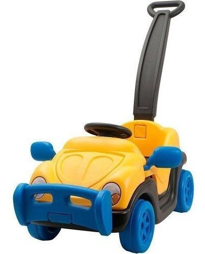 Carro Infantil Alça Empurrador Passeio Haste Velotrol Fusca