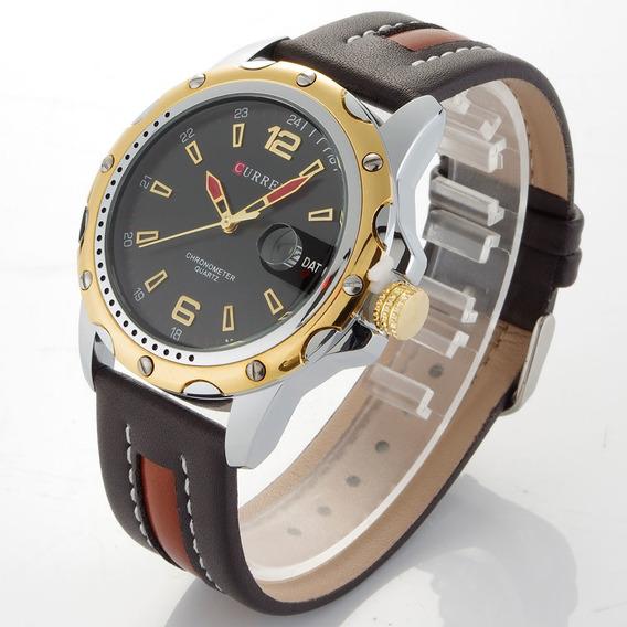 Relógio Curren Casual Masculino Modelo 8104 Promoção Barato