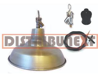 Pantalla Galponera De Aluminio 30cm Kit Para Colgar