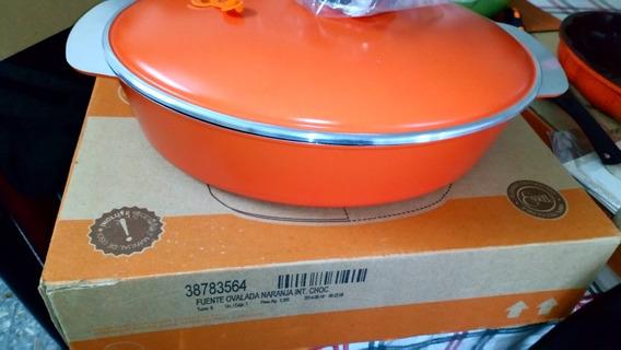 Fuente Essen Ovalada Naranja