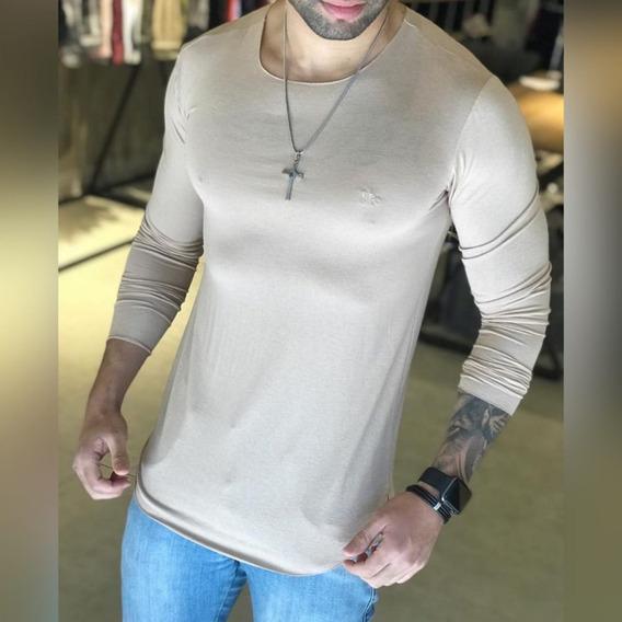 Camisa Manga Longa Skin Com Leve Transparência