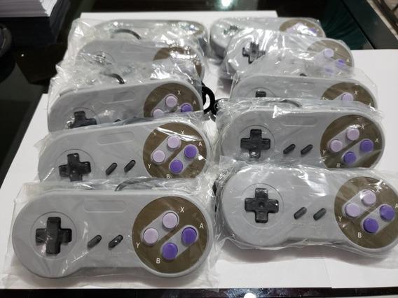 Kit 10 Controles Super Nintendo Usb Pc Mac Windows Recife Pe
