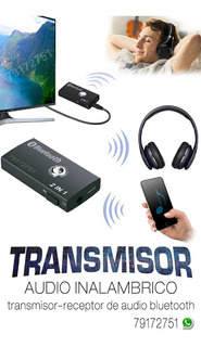 Transmisor De Audio Inalambrico Bluetooth Dual