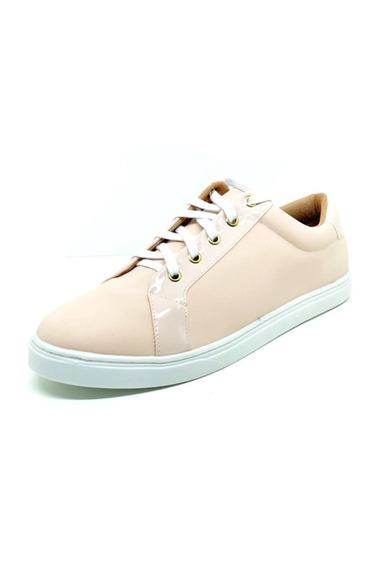 Sapatos Femininos Tenis Casual Nobuck Rosê Dani K