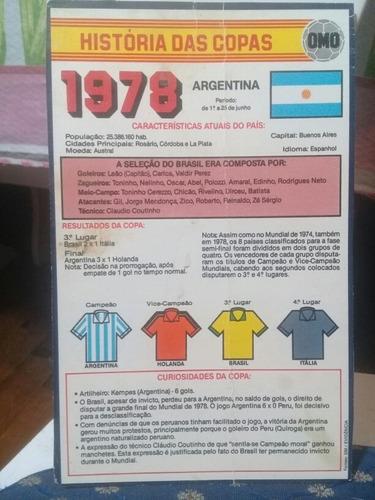 Cards Omo História Das Copas 1978
