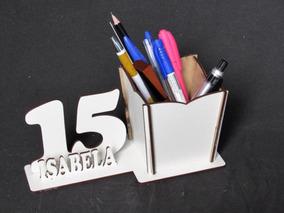 20 Porta Lápis Idade Personalizada Mdf Branco Debutante