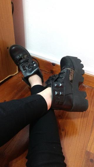 Zapatos De Ecocuero Con Plataforma