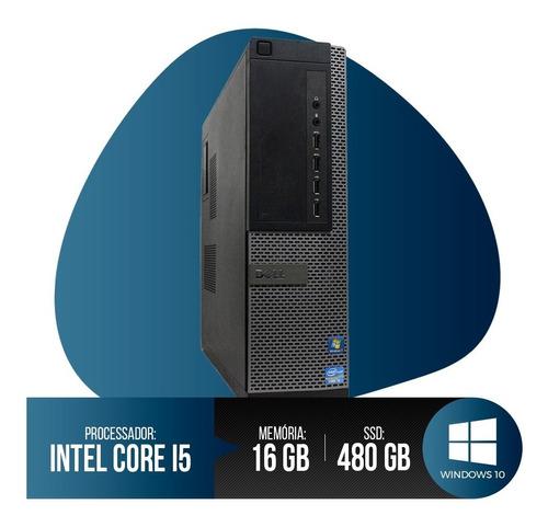 Pc Dell Optiplex Core I5, 16gb Ram Ddr3, Hd Ssd 480gb