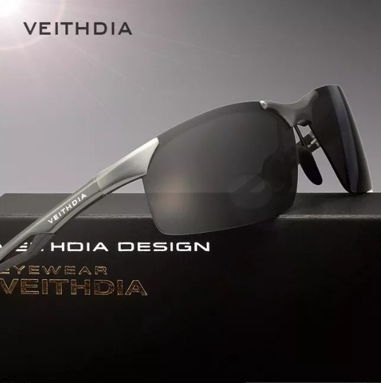 Óculos De Sol Esportivo Masculino Viahda Lentes Uv400