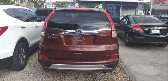 Honda Cr-v 2015 4x4 Roja Full Financiamiento Disponible