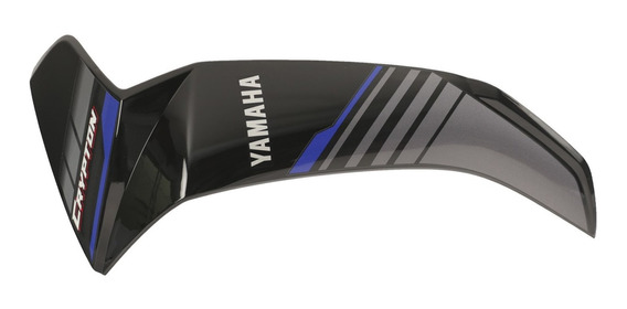 Plastico Cubre Pierna Izquierdo Negro/azul Yamaha Crypton T1