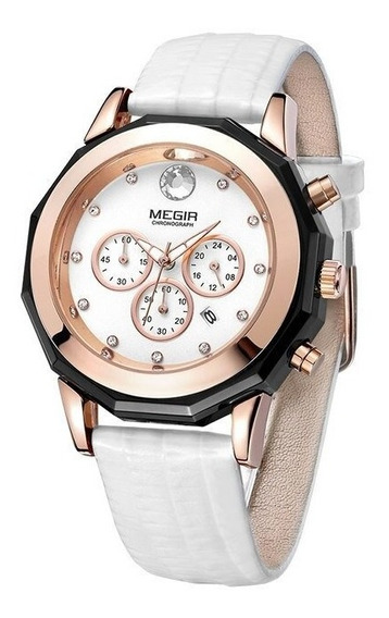 Relógio Megir 2042 Feminino Luxo Próva D Água Fréte Grats