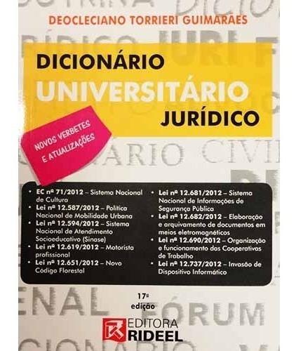 Dicionário Universitário Jurídico - Direito