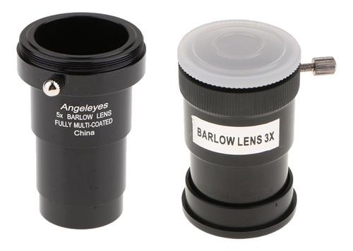 Imagen 1 de 6 de 1.25 PuLG. 5x 3x Ocular De Lente Barlow Para Ocular