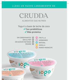Yogurt Alternativo - Crudda (natural)