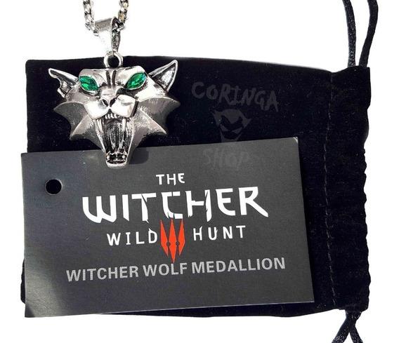 Medalhão The Witcher 3 Pingente Escola Do Gato