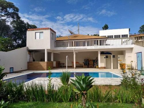 2.500 M², Casa Com 02 Dormitórios, Salão De Festa E Piscina!