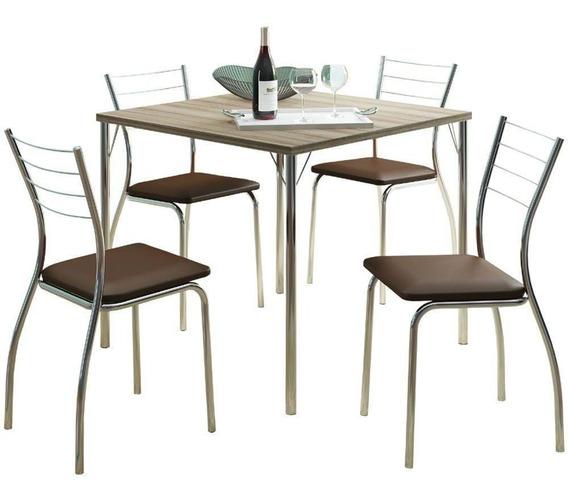 Conjunto Carraro Mesa 1545 Com 4 Cadeiras