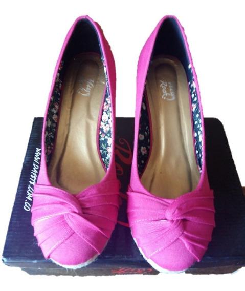 N°40 Nuevos Zapatos Cerrados Color Fucsia