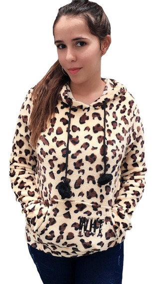Blusa Felpuda De Frio Girafinha Pelinhos Na Toca Bolso Luxo