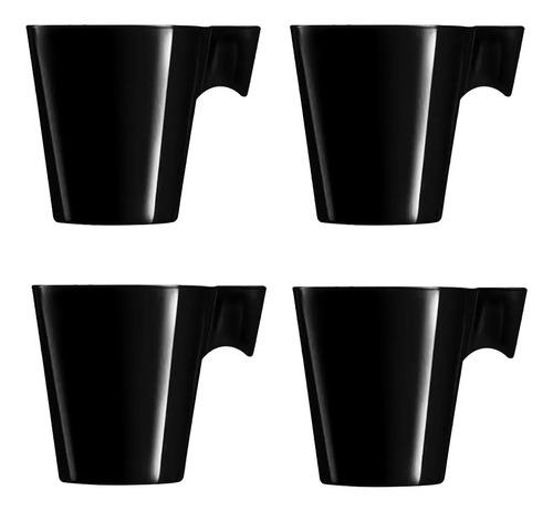 Imagem 1 de 2 de Xícara De Café Nespresso Dolce Gusto 80ml Preto 4 Peças