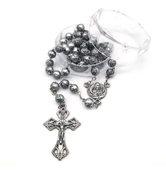 Terço Catolico Santa Teresinha Botoes De Rosa