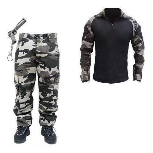 Imagem 1 de 6 de Combo Farda Calça  Camisa Combat Shirt Rip Stop Reforçada