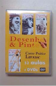 Curso De Desenho E Pintura - Desenhe E Pinte 4 Dvds Vhs-dvd