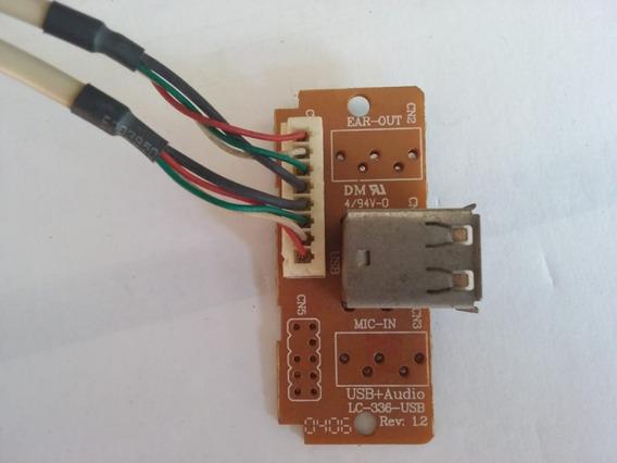 Placa Usb Para Gabinete Computador Lc-336 Rev. 1.2 - 38321