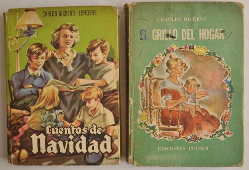 Lote X2 Dickens Infantil Navidad Grillo Hogar Peuser 1960