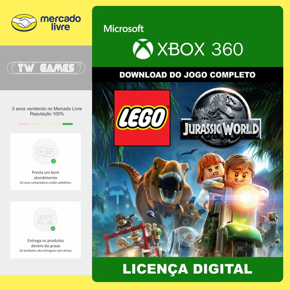 Lego Jurassic World Mundo Dos Dinossauros Xbox 360 Digital