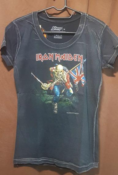 Iron Maiden - The Trooper Camisa Baby Look Especial