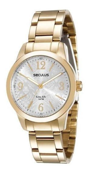 Relógio Seculus Feminino Long Life 28598lpsgda1