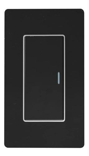 Imagen 1 de 4 de Interruptor Sencillo Lujo Negro Espejo Black Mirror