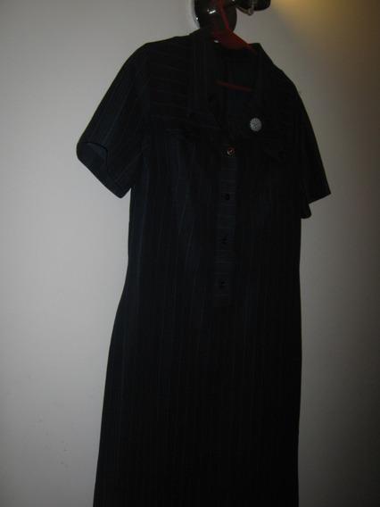 Vestido Retro Azul (prendedor De Regalo)