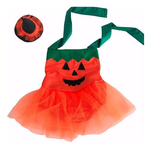 Imagem 1 de 7 de Fantasia Halloween Body Vestido Abóbora Baby Infantil Foto