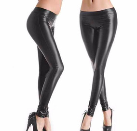 Leggins De Latex Pretina Ancha