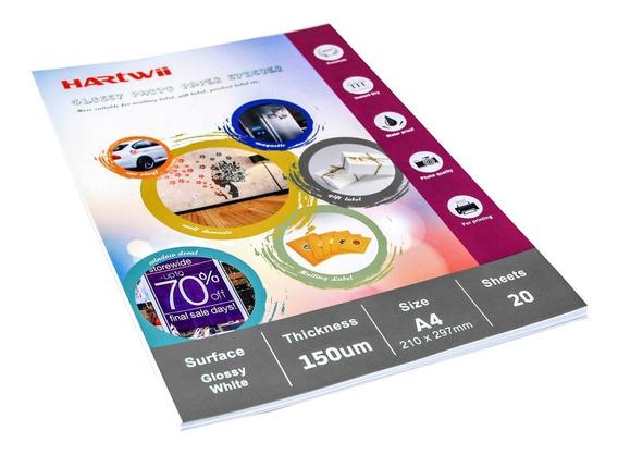 Papel Autoadhesivo A4 Inkjet Brillo 120gr 80h Hartwii Kennen