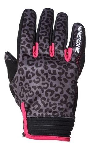 Guantes Cortos Nine To One Leopard Pink Proteccion Yuhmak