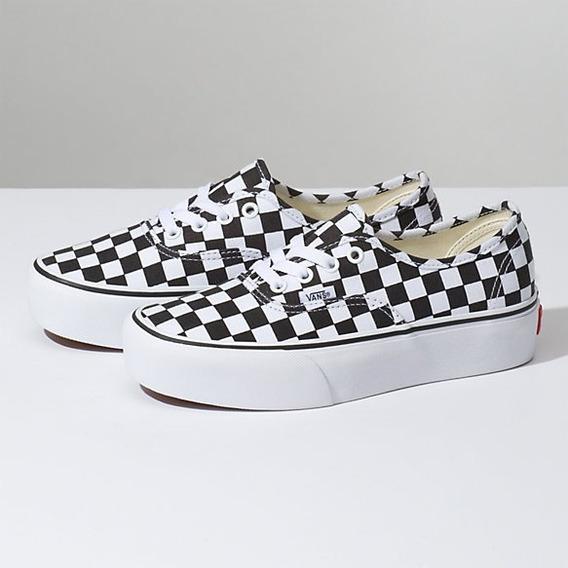 Tênis Vans Authentic Checkerboard Plataform