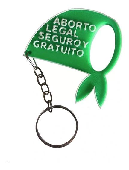 Llavero Aborto Legal Seguro Y Gratuito, Pañuelo Verde X 100u