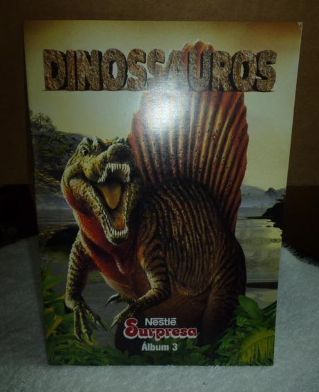 Nestlé Surpresa Álbum De Figurinhas Dinossauros