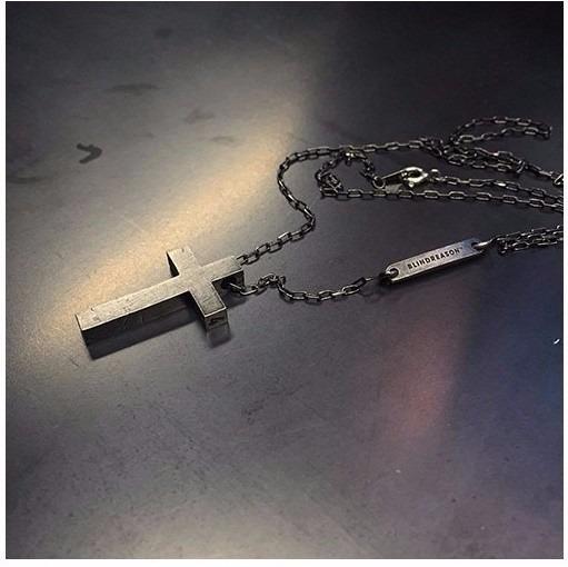 Colar Terço Masculino Corrente Cordao Crucifixo Em Aço